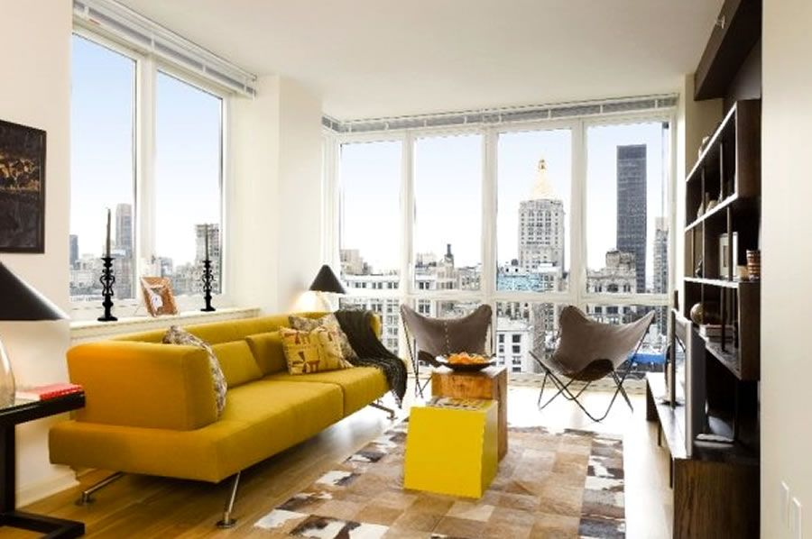 One Bedroom Living Room Interior Design Chelsea Landmark Residential Cool One Bedroom Apartments In Manhattan