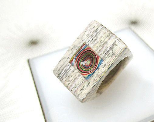 eternal paper ring no. 163 Ring made of layered por eternalpaper ...