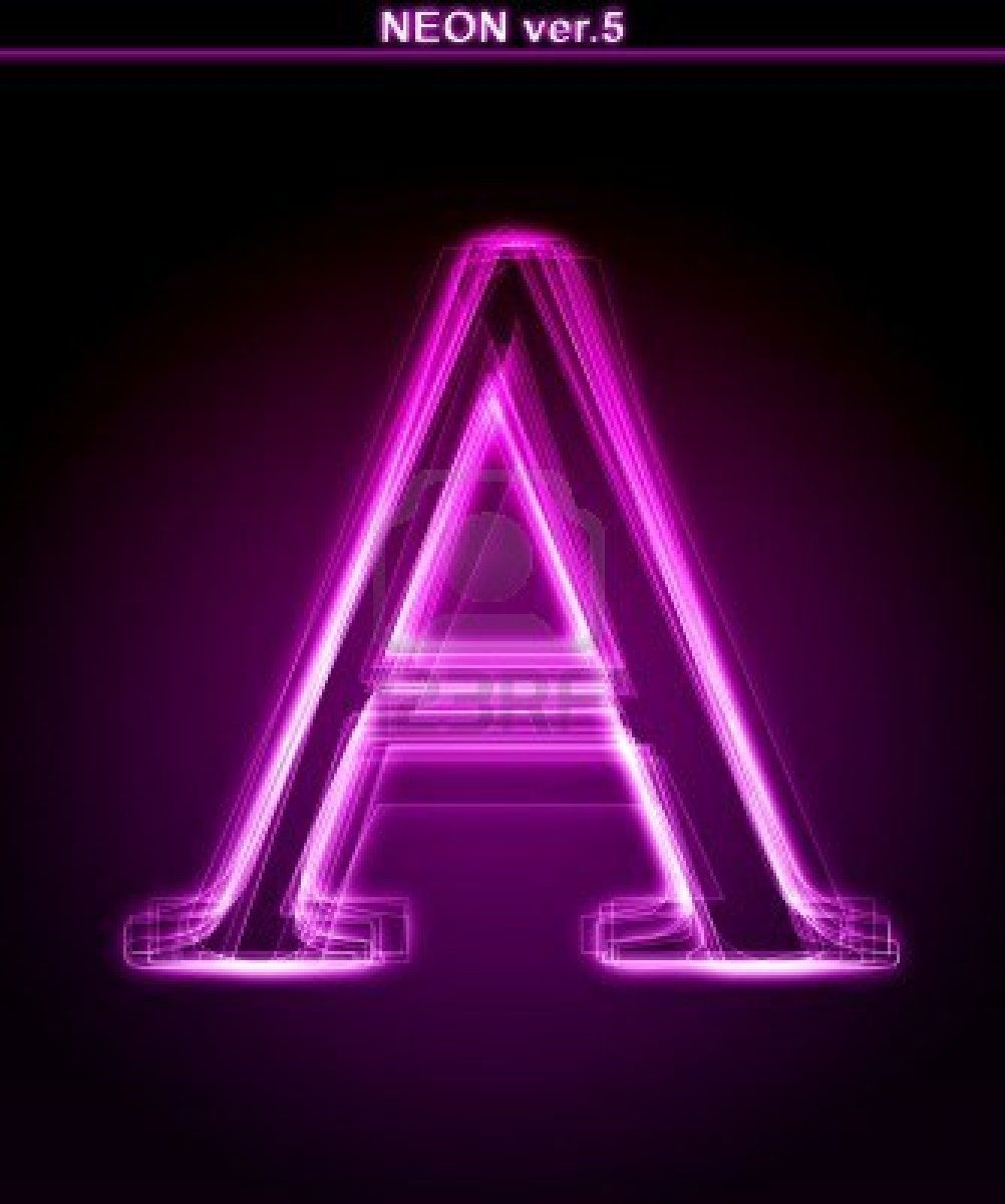 Glowing Neon Letter On Black Background Letter A Full Font Neon Wallpaper Neon Light Art Wallpaper Iphone Neon