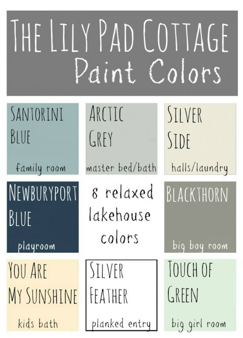 My Paint Colors - 8 Relaxed Lake House Colors Lake houses, House