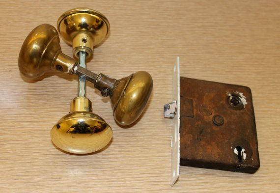 early 1900s vintage interior door lockset by WillmoreCityVintage