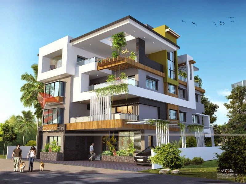 We are expert in designing 3d ultra modern home designs for Modern triplex house designs