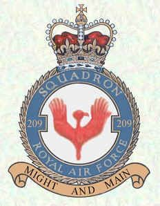 #209 Squadron formed as #9 sqn RNAS at St Pol on 1 February 1917, disbanded in 1919. Reformed  at Mount Batten on 15 March 1930 as a flying boat unit equipped with the only four Iris aircraft built. #209 gained its 'independence' on 1 Nov 1958, when #267 sqn at Kuala Lumper was redesignated. It was now flying Pioneers and Twin Pioneers as a light transport squadron supporting the security forces in Malaya, a role it maintained for the next ten years, disbanding on 31 Dec 1968.