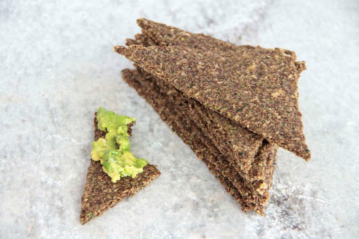 Rosemary Thyme Flax Bread 2 Dehydrator Recipes Raw Food Recipes