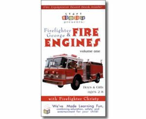 Firefighter George & Fire Engines, Fire Trucks, and Fire Safety, Volume One. Fire Safety books for kids.