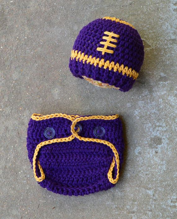482f1b911f1d26 Lsu Football Hat and diaper cover set by BitofWhimsyCrochet. Lsu Football  Hat and diaper cover set by BitofWhimsyCrochet Crochet Baby Hats, Crochet  Beanie,