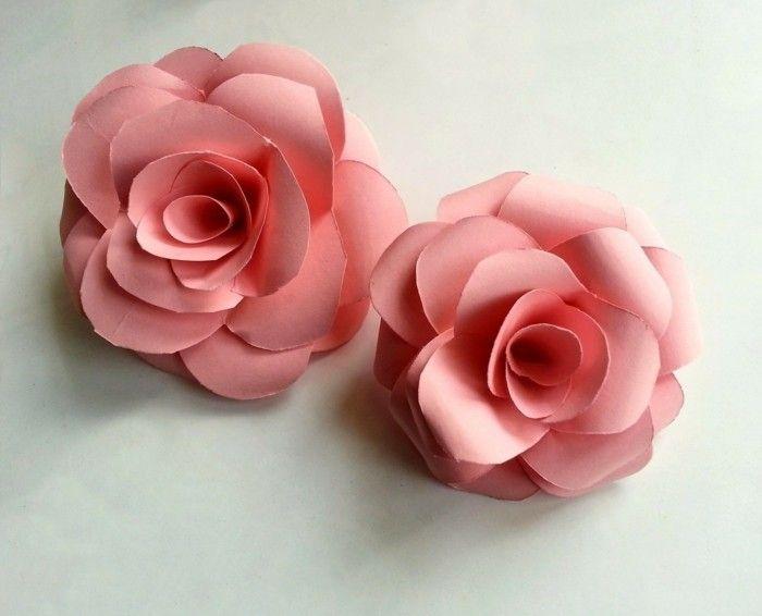 Blumen Basteln Aus Papier kreativ basteln selber basteln papier