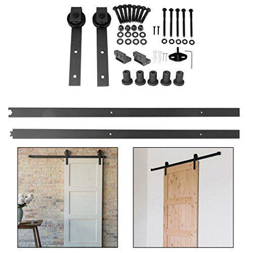 66FT-201cm Puerta de Corredera de Madera, Accesorios para Puerta - puertas de madera para bao