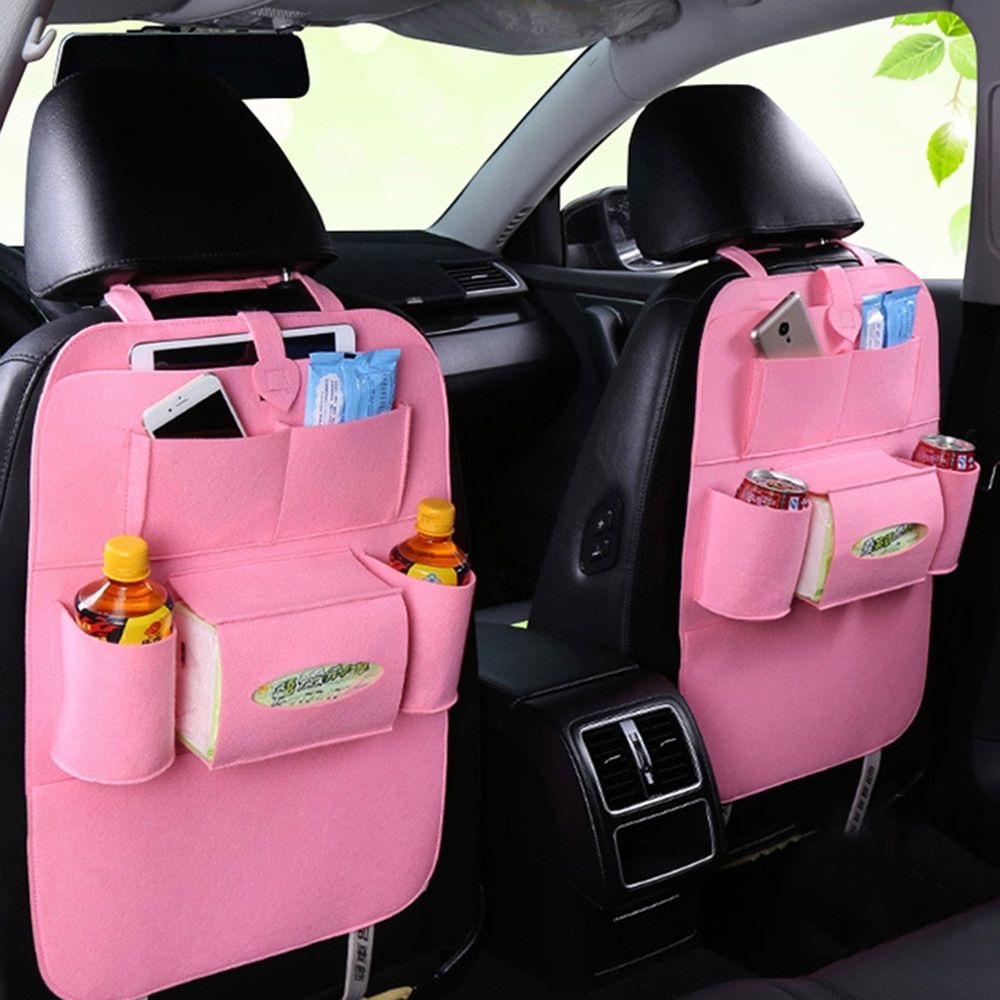 Car Seat Back Protectors yiiena Backseat Car Organizer Kick Mats Back seat Organizer for Kids Toy Bottle Drink Vehicles Travel Accessories