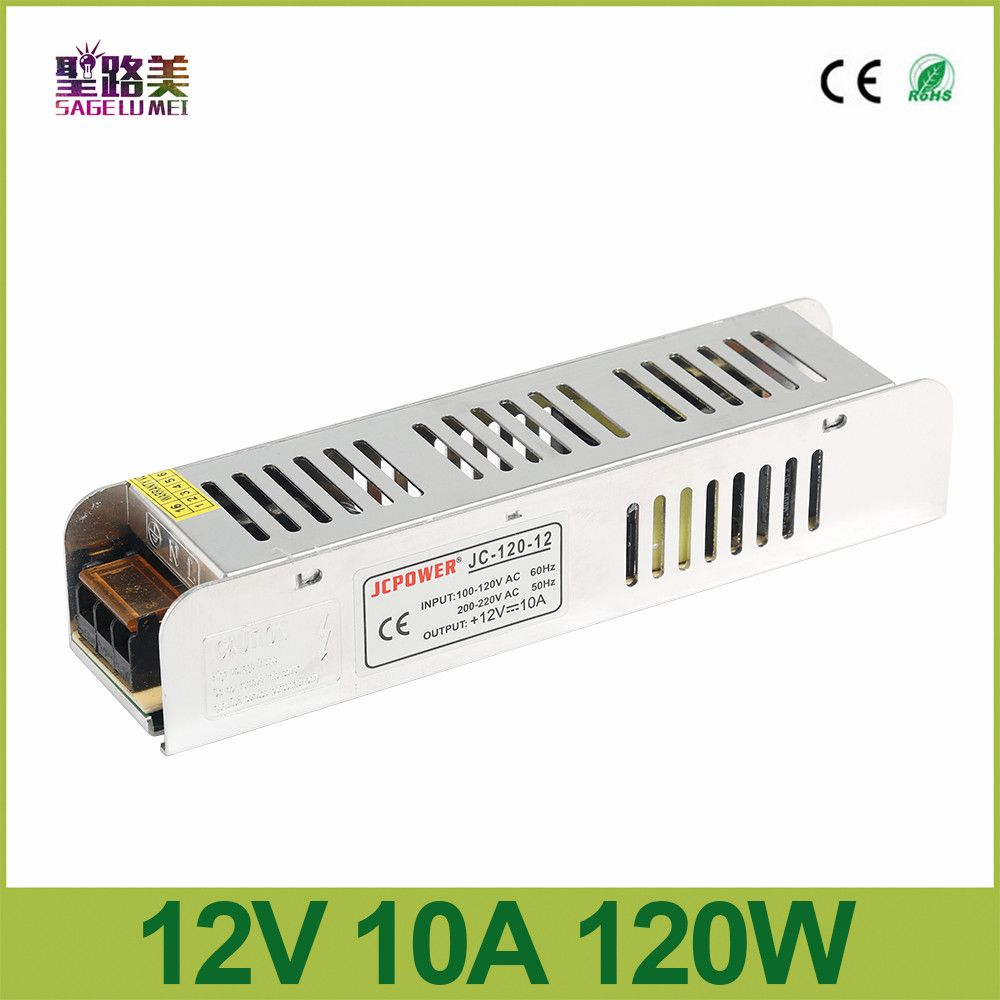 New 2016 Hq 12v 10a 120w Slim Power Supply Power Source Ac To Dc Adapter Switch Driver For Auto Led Strip Light Module Led Strip Lighting Led Strip Led Drivers