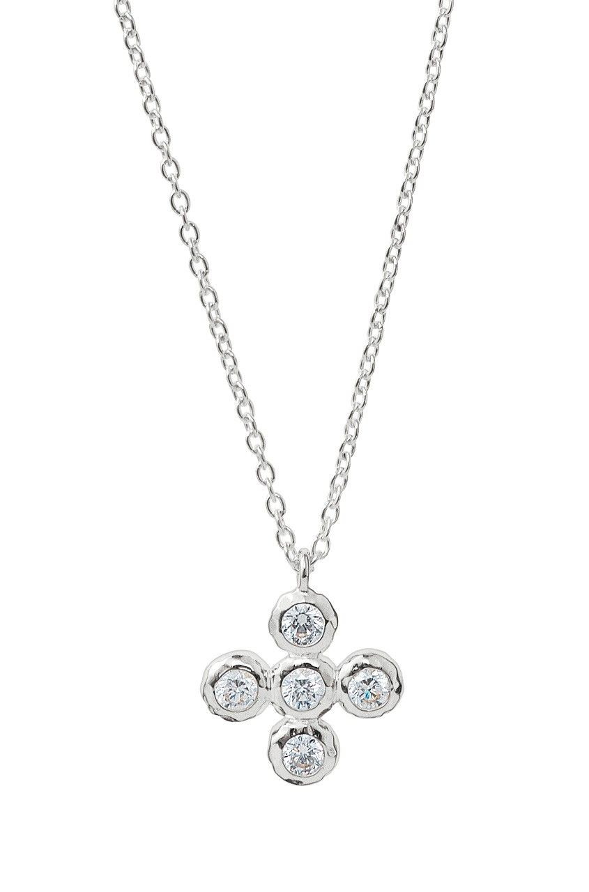 Stella and Dot - CZ Cross Necklace