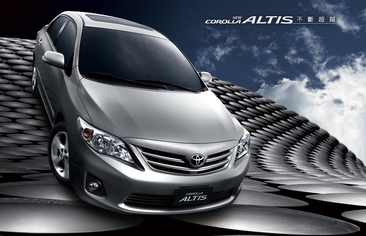 From 2005 2010 the toyota corolla altis was the best selling car in taiwan