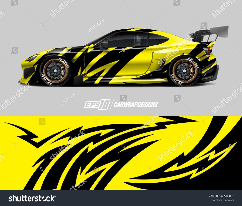 Car Wrap Decal Design Concept Abstract Stock Vector (Royalty Free) 1472283857