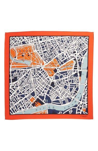 Burberry Prorsum  London Map  Silk Scarf   Nordstrom   Pattern ... ff256dd6821