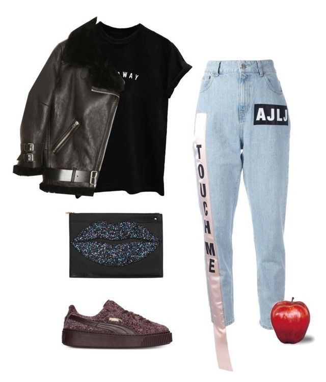 """""""Untitled #2579"""" by applelula on Polyvore featuring Au Jour Le Jour, Acne Studios and Charlotte Olympia"""