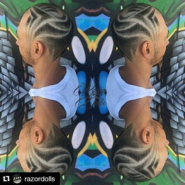 #Repost @razordolls with @repostapp ・・・ Get some hair patterns ✌️ #razordolls #chapelstreet #grafittywall #mirrorphoto #hairdesign #hairtattoo #hairtattoos #razordollsangela #skullpturehair #hairetching