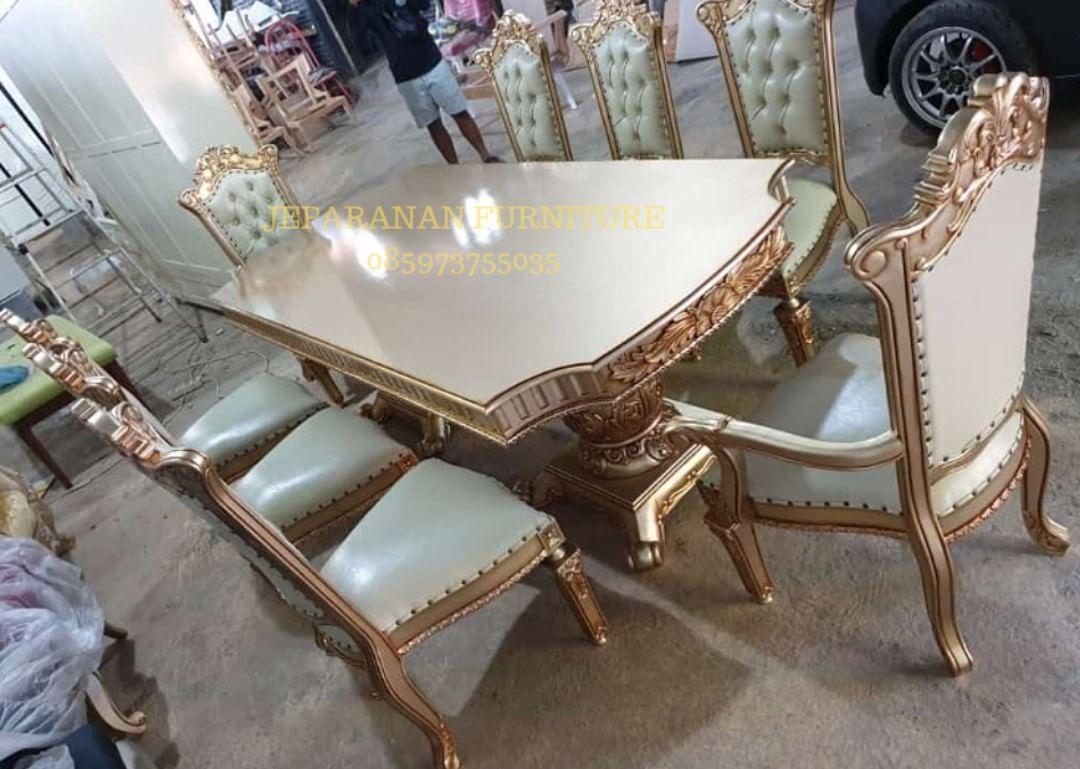 Kursi Makan Ukir Mewah 8k Bahan Kayu Jati Price Idr 10 500 000 Jeparanan Furniture Me Furniture Furniture Design Dining Chairs