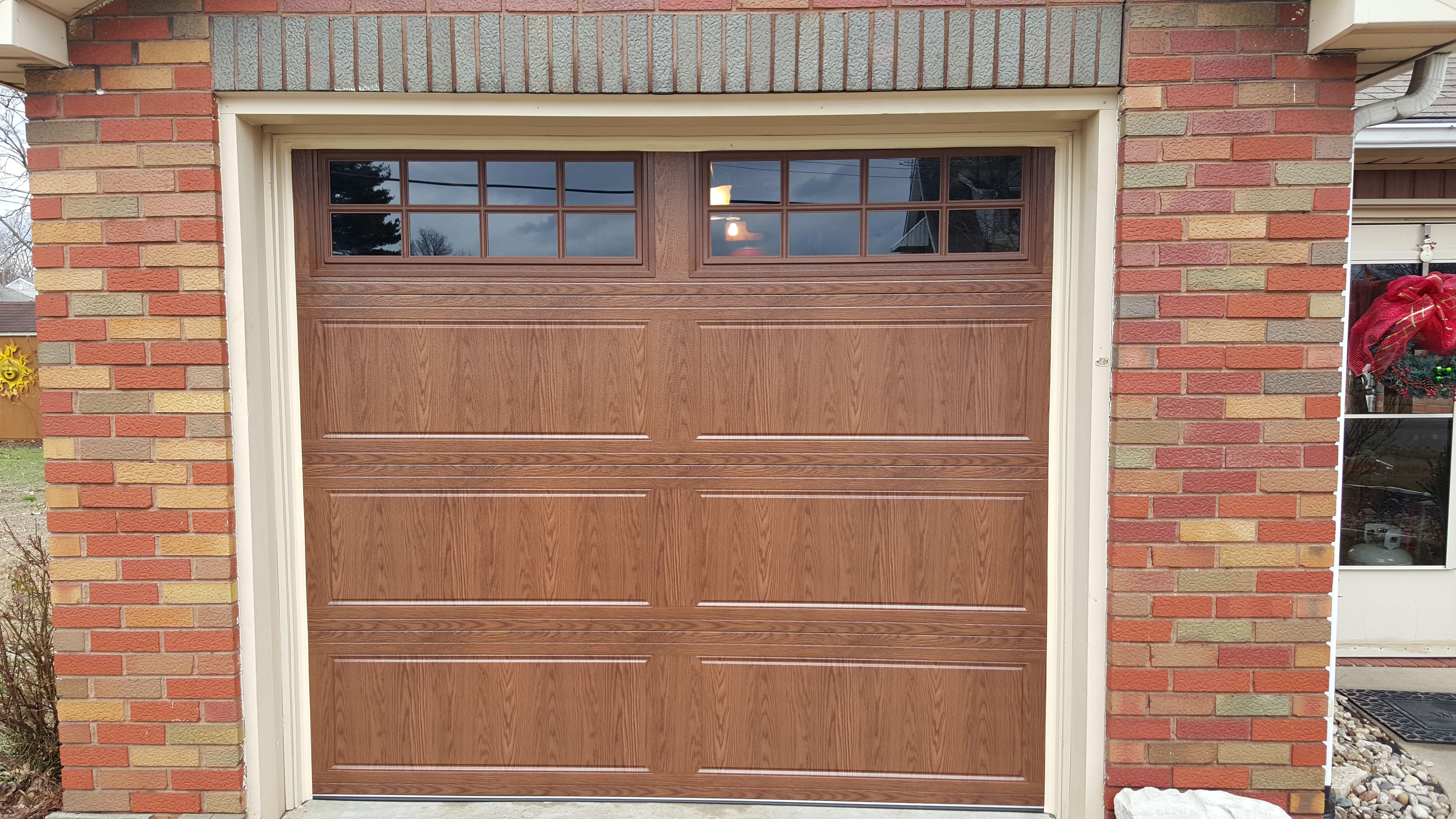 Model 3640 DoorLink Wood look without the maintenance  Garage Door installations  Garage
