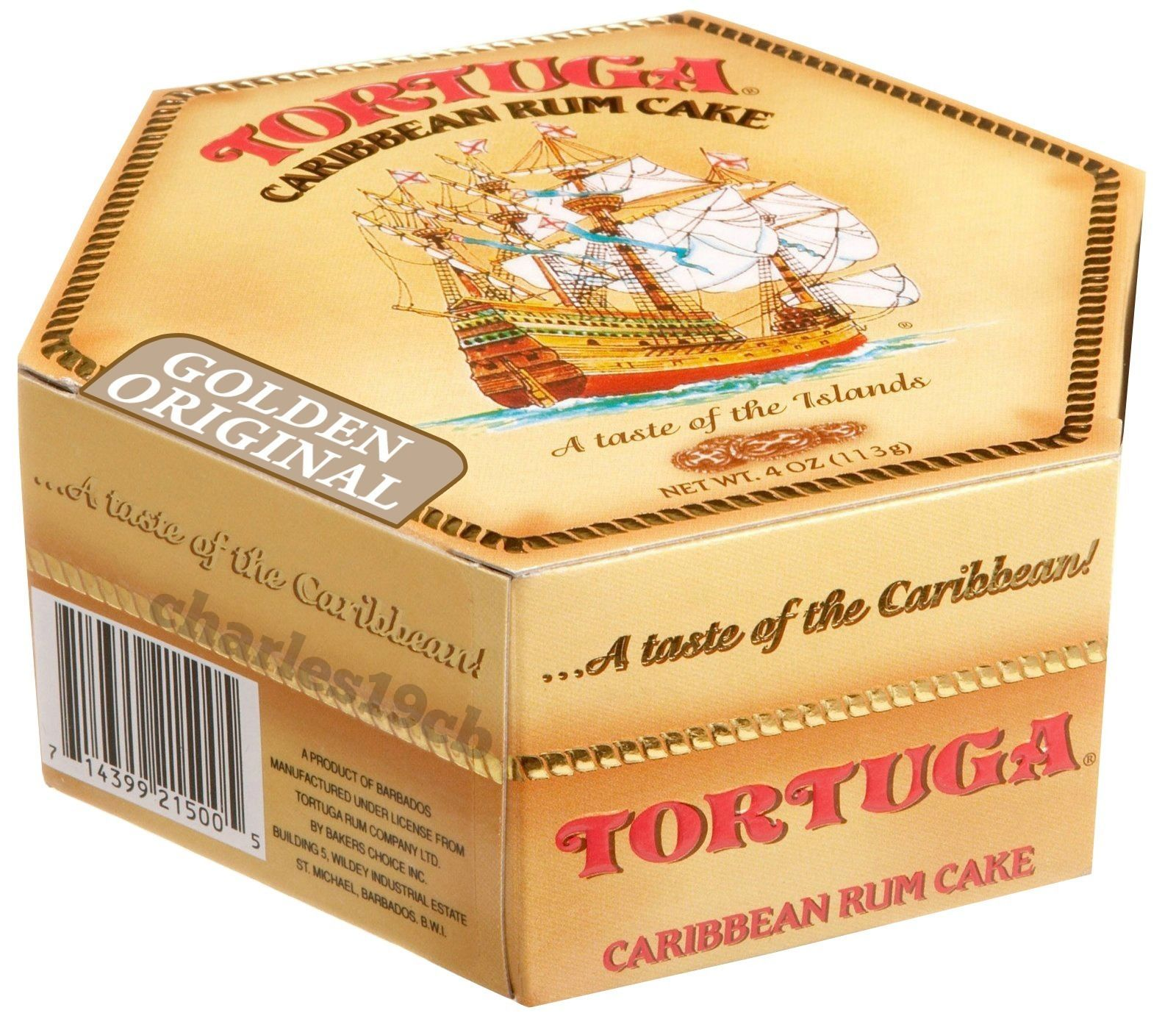 Details about Tortuga Caribbean Rum Cake, 4 oz Golden