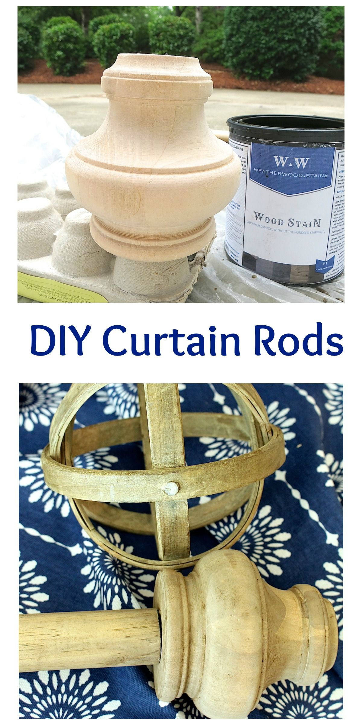 Diy copper curtain rods that wont break the bank diy how to window - Diy Curtain Rods Using A Broomstick And Furniture Feet We Gave It An Aged Barnwood