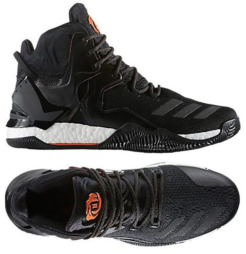 ADIDAS D ROSE 7 MEN\u0027S BASKETBALL SHOE CORE BLACK - ORANGE - UTILITY BLACK  NEW US