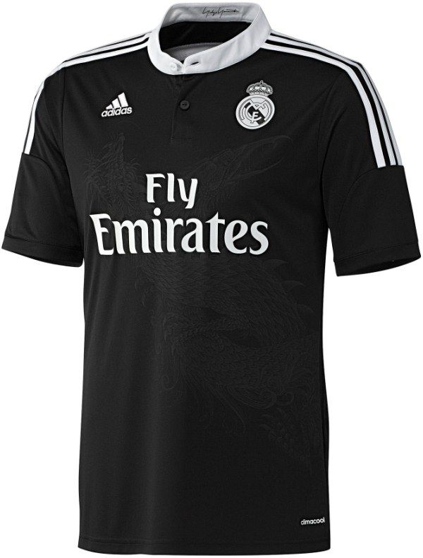 08e11925d New Real Madrid Champions League Jersey 2014 2015- Adidas Black Madrid  Dragon Kit 14 15