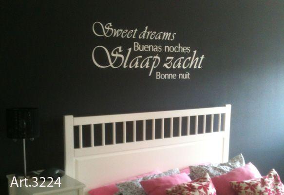 Muurstickers Slaapkamer Tekst : Muursticker sweet dreams huisje pinterest eng teksten en