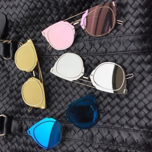 03045354200 Vintage Futuristic composit Metal Sunglasses MiRRORED lENS mirror Cutout  Arms