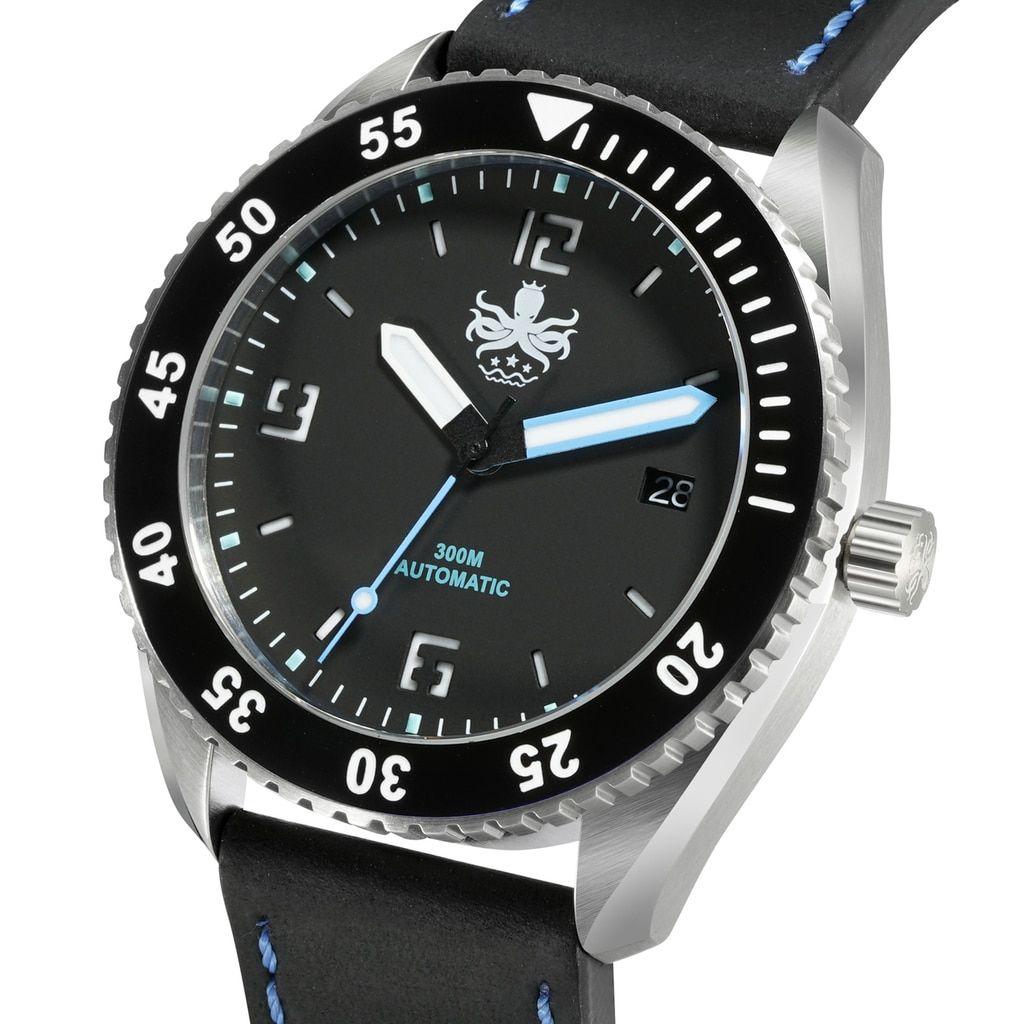 ffdf2a62cf8 PHOIBOS REEF MASTER PY016C 300M Automatic Diver Watch Black ...