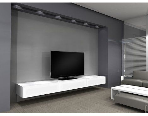 Norstone Khalm White Modular Tv Stand Home Decor Tv Cabinets