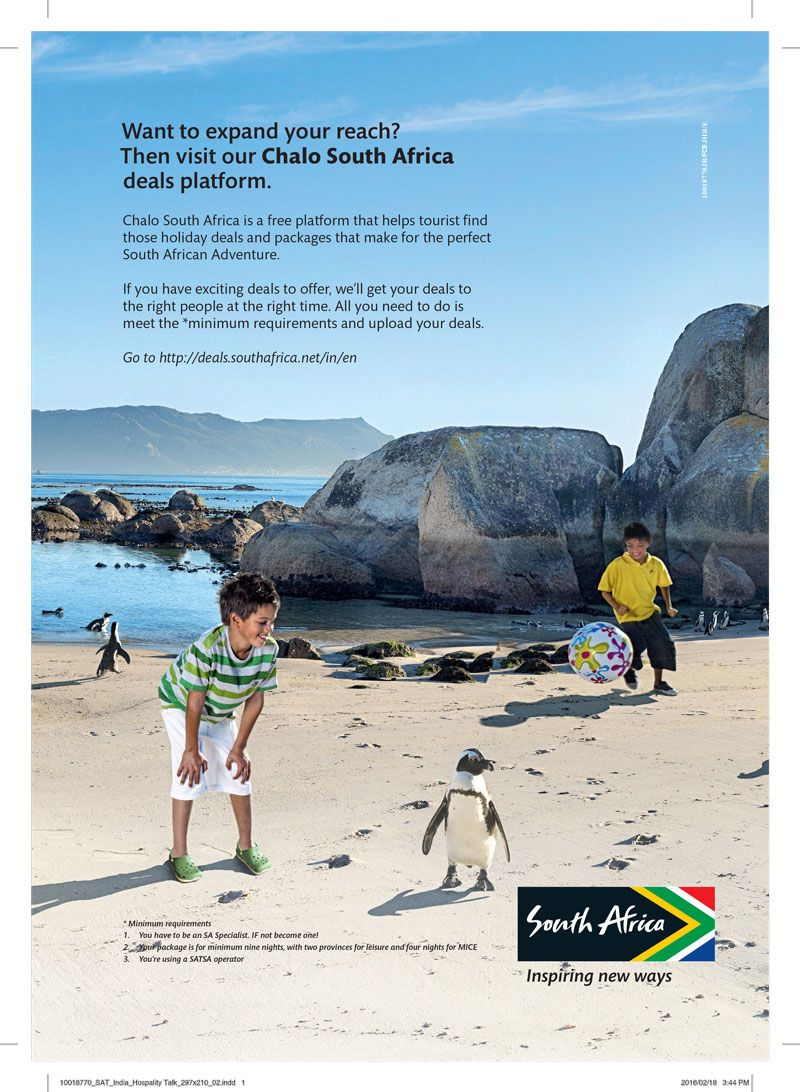 Travel And Tourism Ad Design By South Africa Tourism In Hospitality Talk Magazine Click Here To Adv Africa Tourism South African Adventures Travel And Tourism