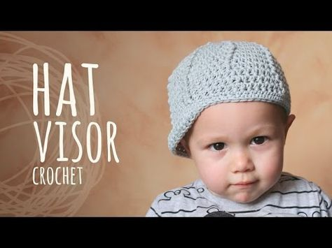 67c9a90ccf9 Tutorial Crochet Hat with Visor (All Sizes) - YouTube