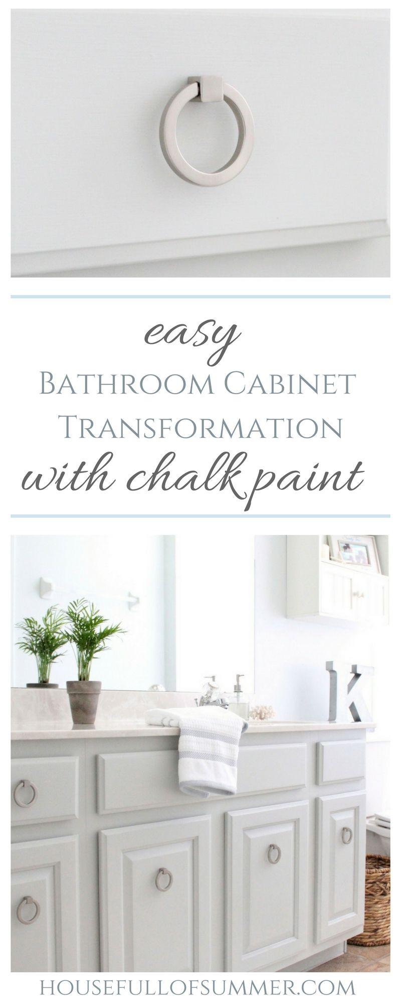 Sep 15 Easy Bathroom Cabinet Transformation   Easy bathrooms ...