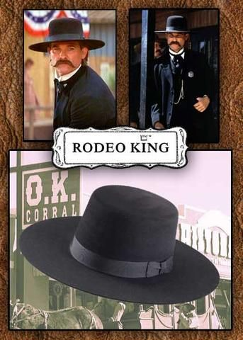1a23981bb87 Old West Tombstone Wyatt Earp Rodeo King 5X Rabbit Fur Blend Hat ...