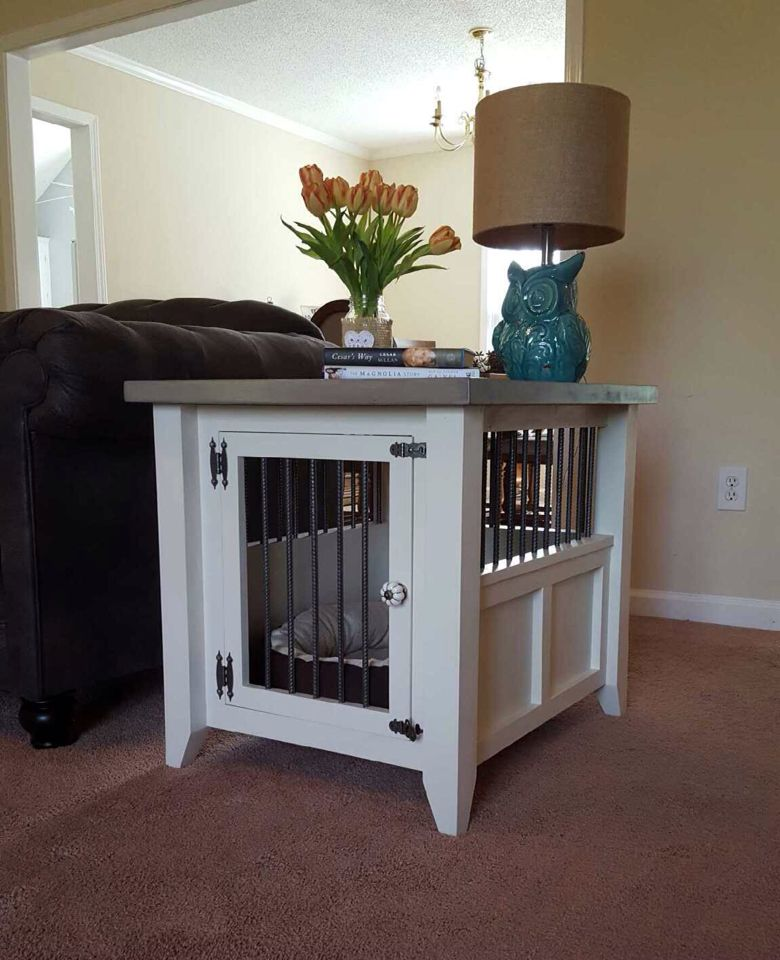 Dog Kennel I Made For My Schnauzer Perfect Side Table Diy Dog