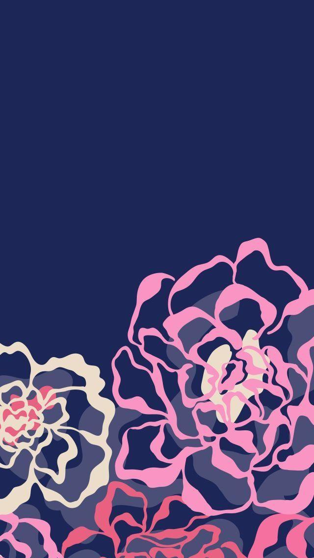 Downloads Iphone Wallpaper Vera Bradley Flower Phone Wallpaper Mobile Wallpaper