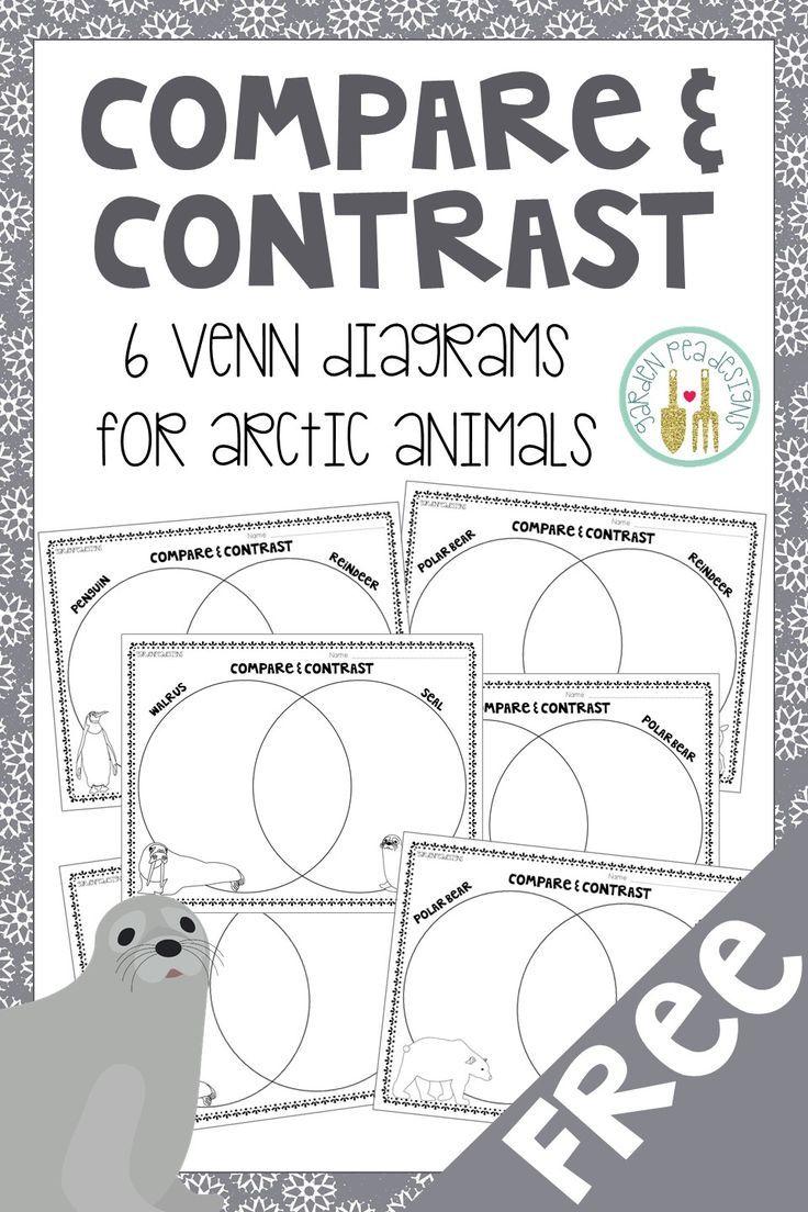 Free Venn Diagrams Comparing Different Arctic Animals Polar Animals Arctic Animals Lessons Polar Animals Preschool [ 1104 x 736 Pixel ]