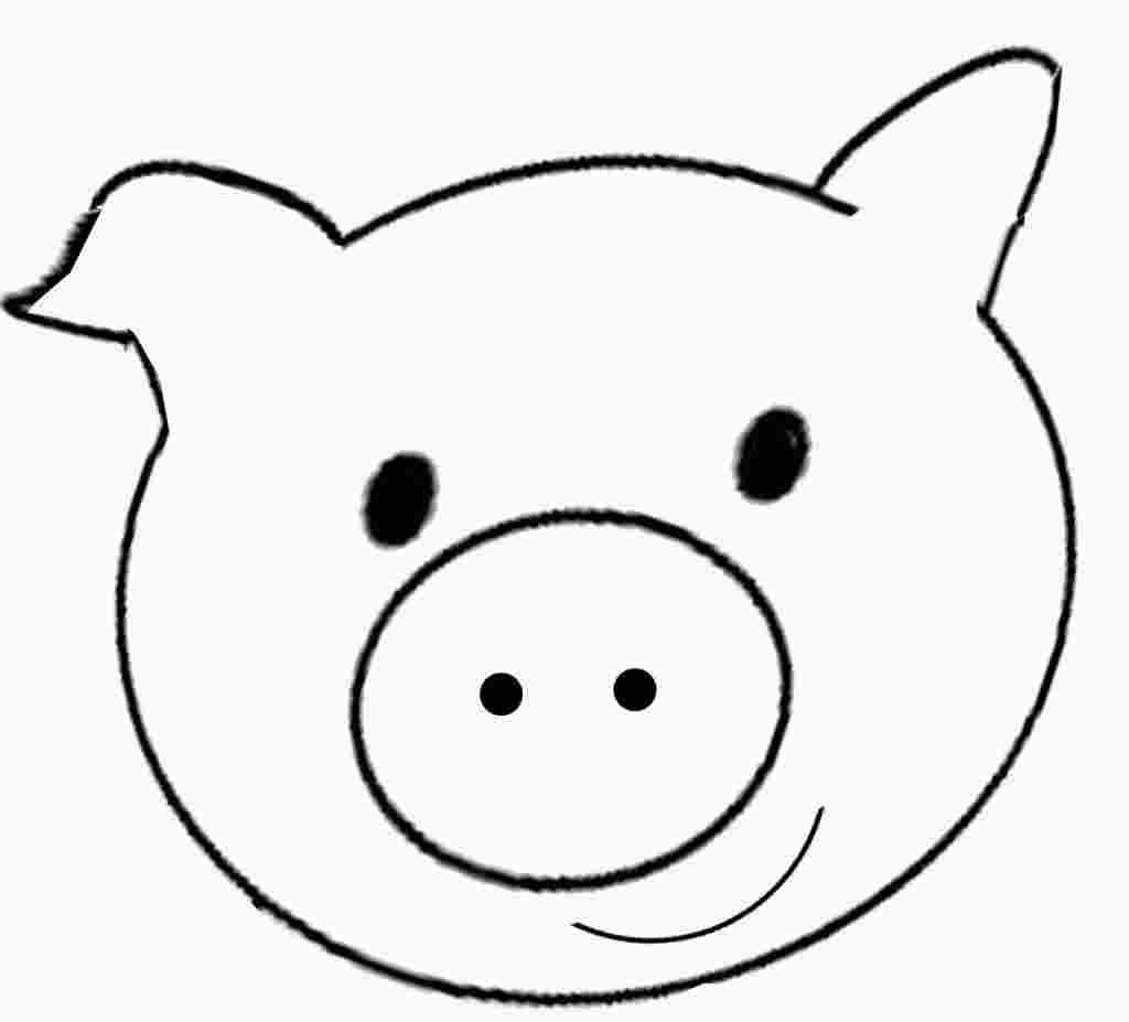Pig Face Coloring Pages Pig Face Drawing Pig Face Toddler Art