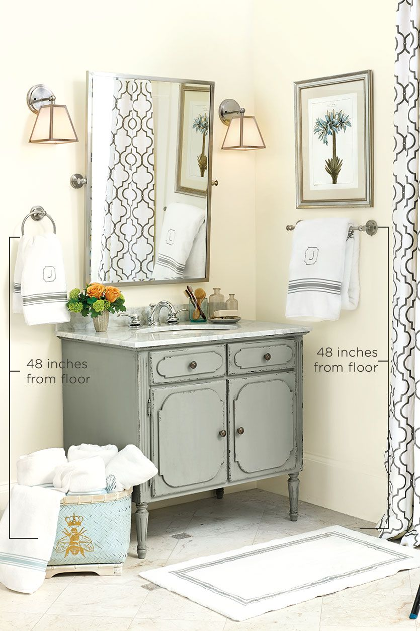 Proper Height For Towel Bars And Rings How To Decorate Towel Bar Bathroom Towel Bar Hand Towels Bathroom