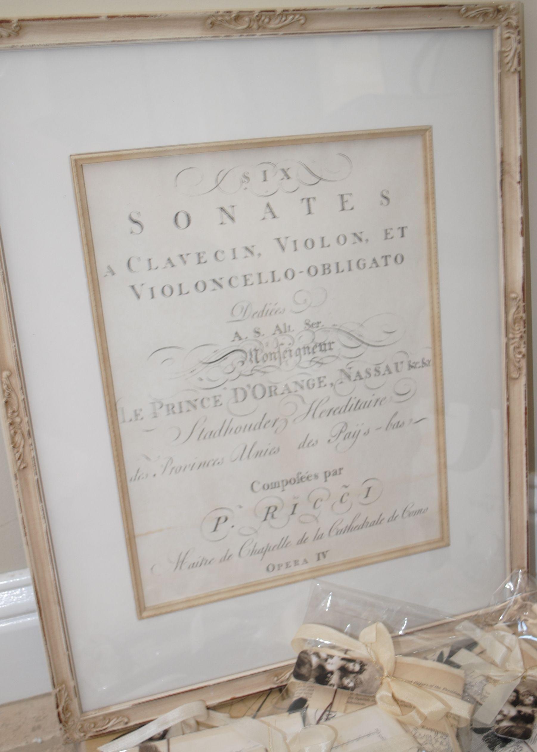 Framed vintage document.