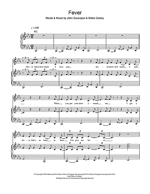 Michael Buble Fever Sheet Music Notes Chords Download Printable
