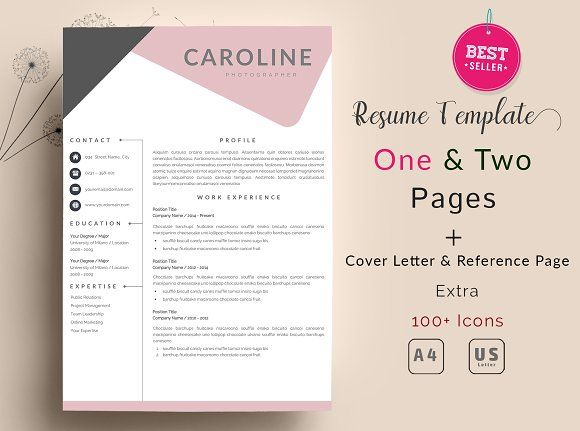 Creative Resume Template - Profesional Resume Template for Word - word resume template mac