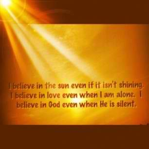 I believe in God, the Father Almighty, creator of Heaven and earth!
