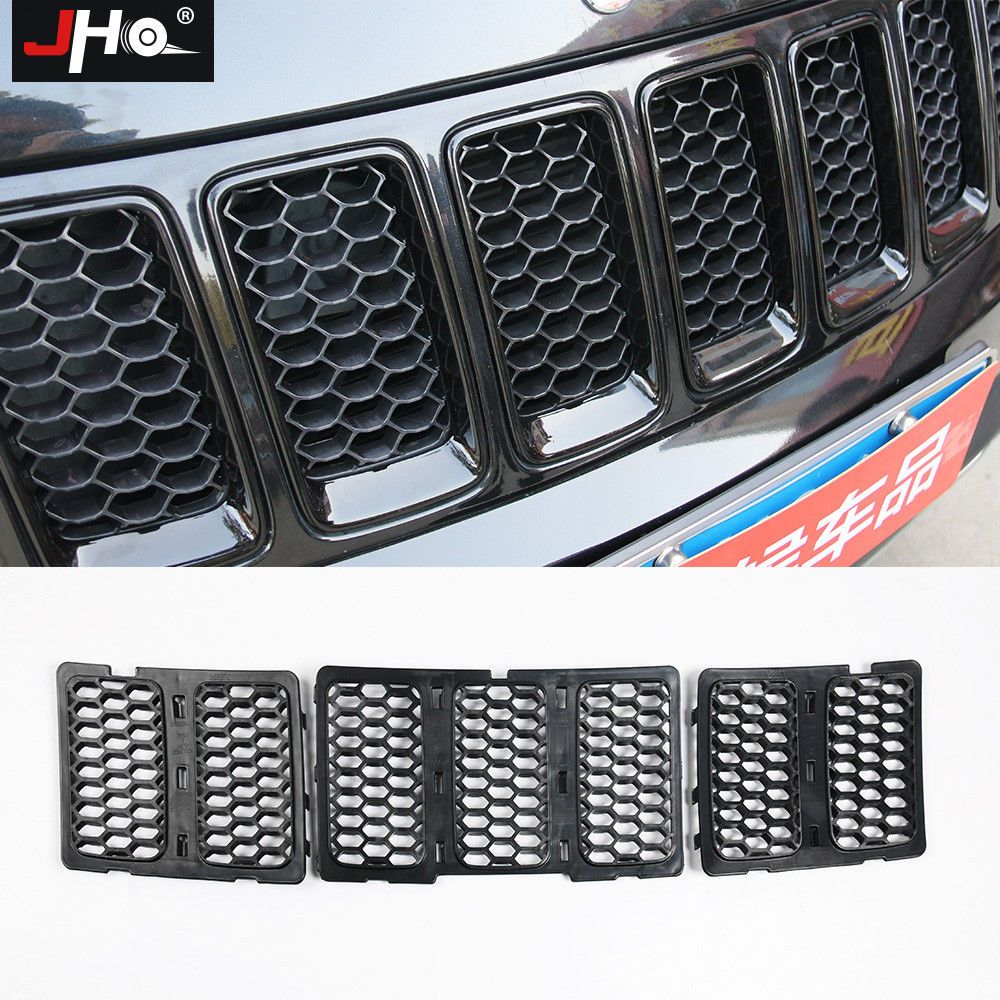For Jeep Grand Cherokee 2014 2016 Black Front Grill Mesh Grille