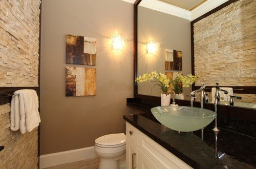 Montana rd, Richmond BC contemporary powder room | Powder ...