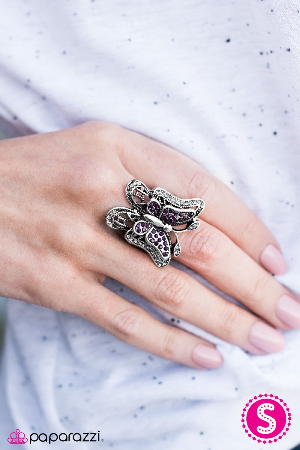 Free to Fly Purple Ring | Paparazzi Accessories | $5.00 | Purple ...