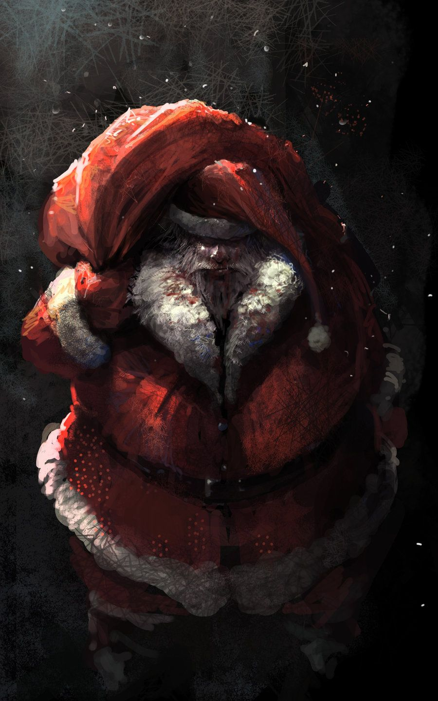 F Cking Christmas By Artcobain On Deviantart Christmas Artwork Scary Christmas Dark Christmas