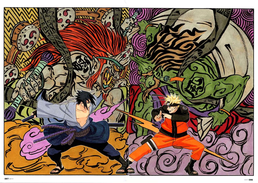 Sasuke_-_Raijin_y_Naruto_-_Fujin_HD_2   Anime ninja ...