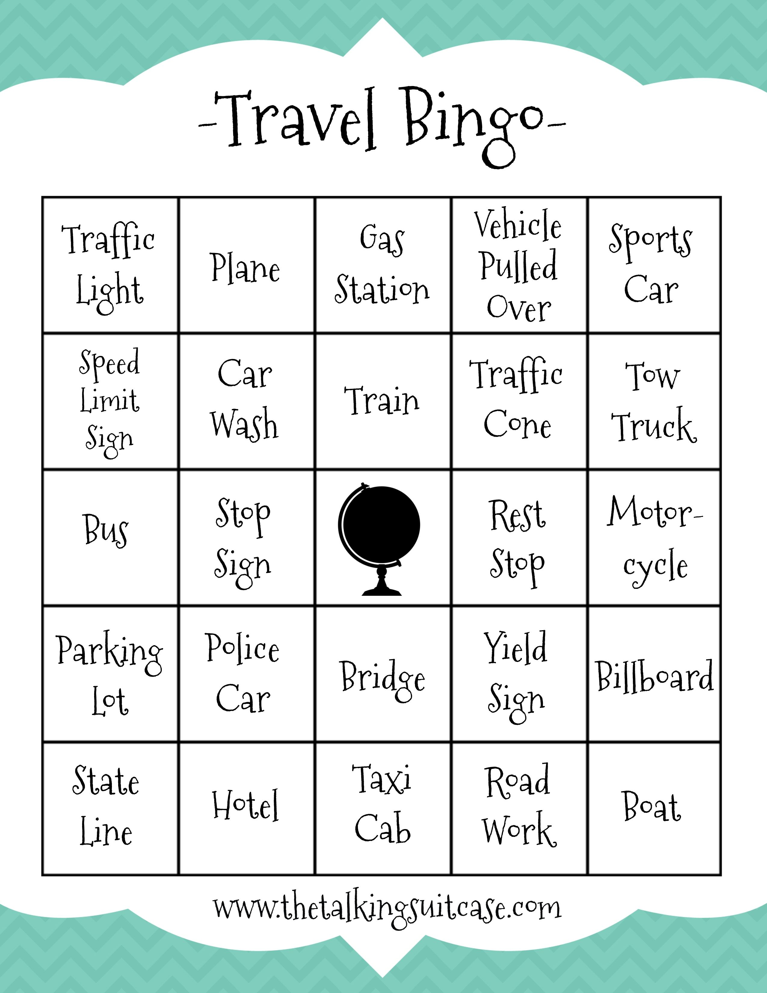 Kids Printable Travel Games