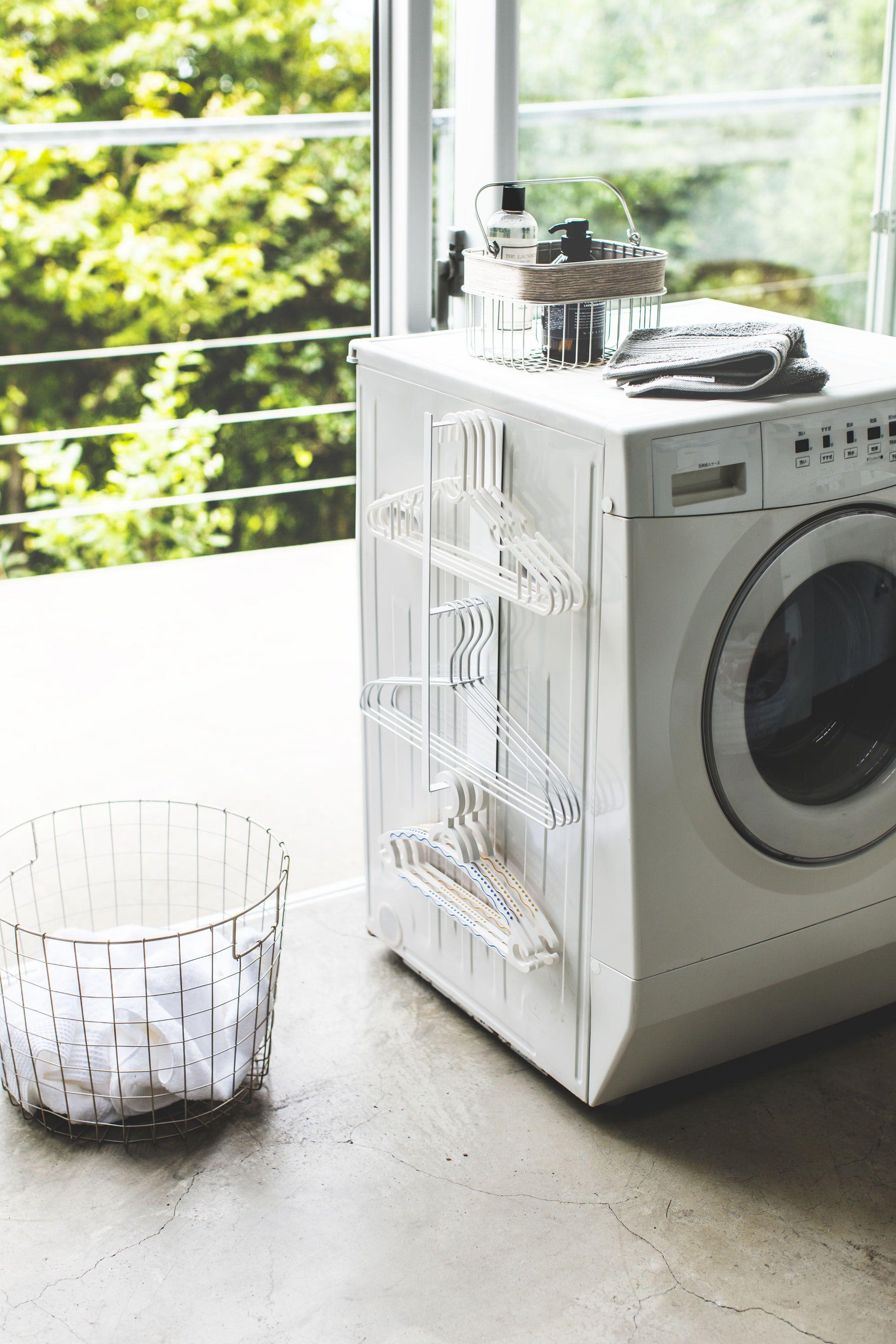 マグネット洗濯ハンガー収納ラック タワー 洗濯ハンガー 収納 ラック 収納 洗濯ハンガー